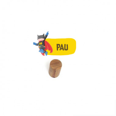 Penjador infantil personalitzat - Superheroi batboy