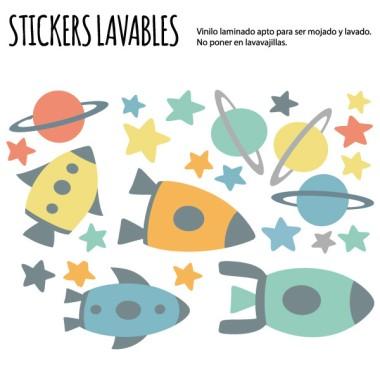 Petites fusées - Stickers polyvalents