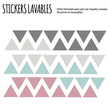 Triangles rosa gris - Vinils multiús resistents a l'aigua
