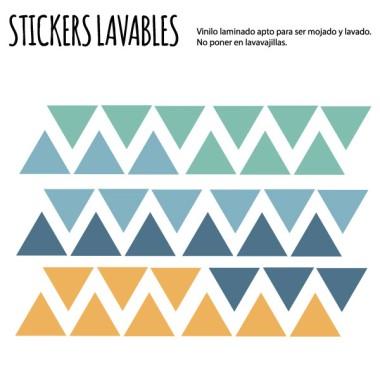 Triangles blaus - Vinils multiús resistents a l'aigua