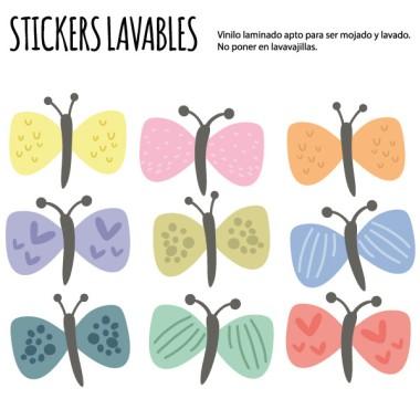 Mariposas de colores - Vinilos multiuso lavables