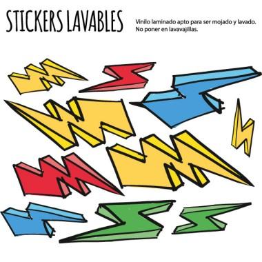 Éclair- Stickers polyvalents
