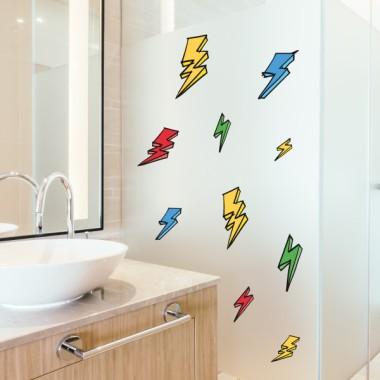 Rayos de colores - Vinilos multiuso lavables