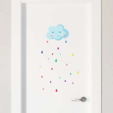 Color rain - Stickers polyvalents