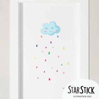 Lluvia de colores - Vinilos multiuso lavables