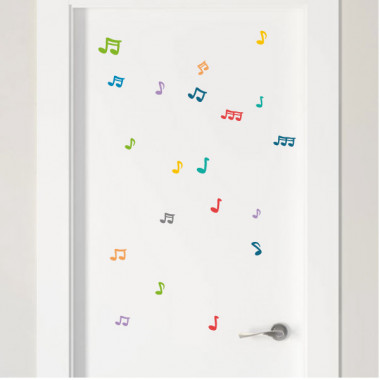 Notas musicales color a elegir - Vinilos multiuso lavables