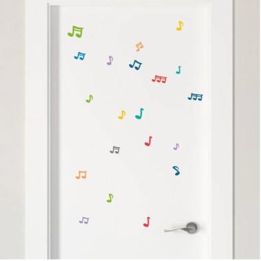 Notes musicals color a escollir - Vinils multiús resistents a l'aigua