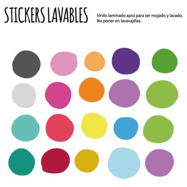 Confettis de couleur irrégulière - Stickers lavables