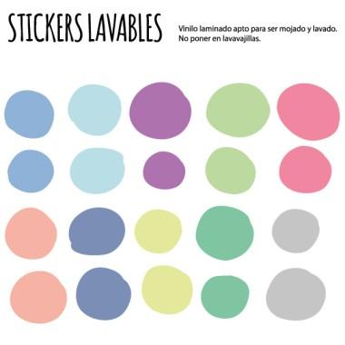 Confettis irréguliers. Couleurs pastel - Stickers lavables