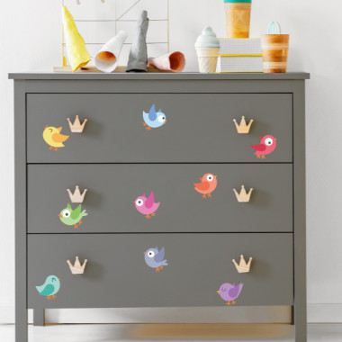 Oiseaux. Play - Stickers polyvalents