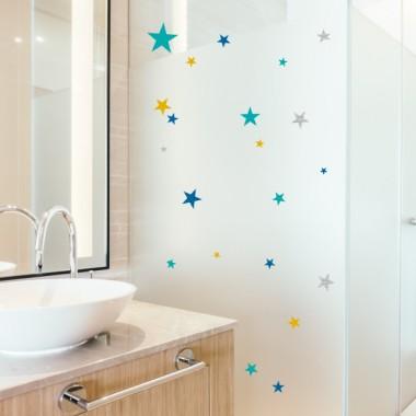 Estrellas combinación mostaza - Vinilos multiuso lavables