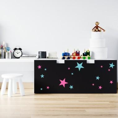 Estrellas. 2 colores a elegir - Vinilos multiuso lavables