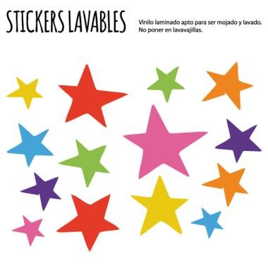 Étoiles colorées - Stickers polyvalents
