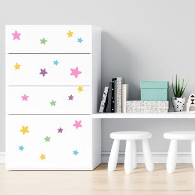 Estrellas combinación unicornio - Vinilos multiuso lavables