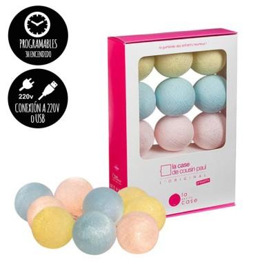 Guirlande lumineuse - 9 boules - Doux