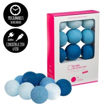 Guirlande lumineuse - 9 boules - Bleu
