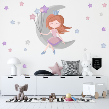 Princesa en la luna - Vinilos infantiles