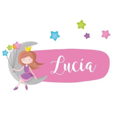 Princesa a la lluna - Vinils infantils amb nom