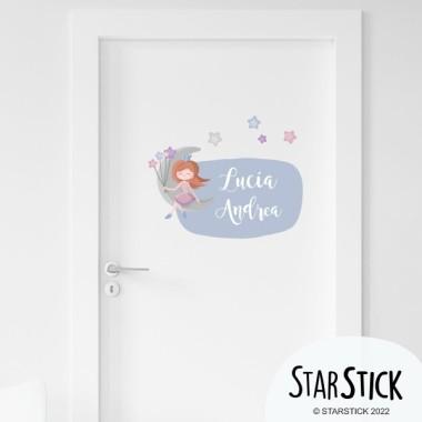 Princesse sur la lune - Stickers pour enfants avec nom