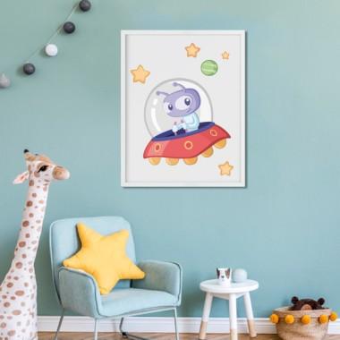Lámina decorativa infantil - Extraterrestre