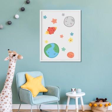 Toiles déco enfant - Espace enfants - Système solaire