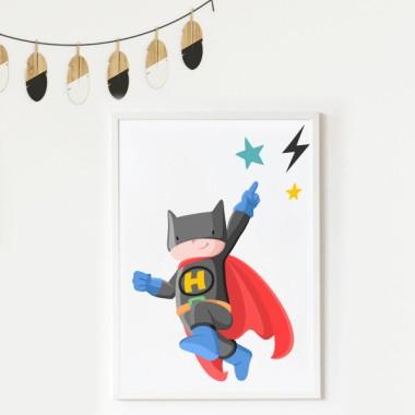 Lámina decorativa infantil - Superhéroe batboy