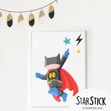 Làmina decorativa infantil - Superheroi batboy