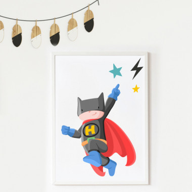 Toiles déco enfant - Superhero Batboy