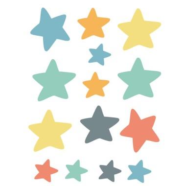 Pack supplémentaire - Étoiles petites fusées dans l'espace