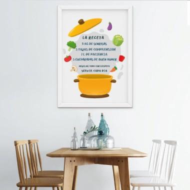 Lámina decorativa -  Receta de la felicidad