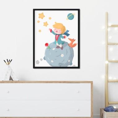 Lámina decorativa infantil - Pequeño príncipe