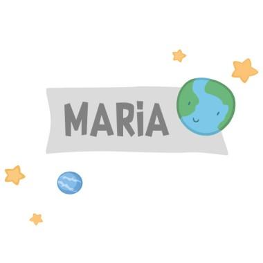 Planeta Tierra - Vinilo con nombre para puertas