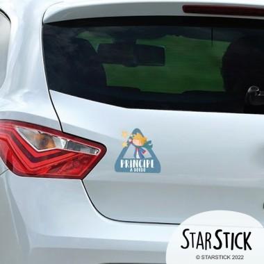 triángulo adhesivo de Bebé a Bordo Príncipe a bordo –  Adhesivo para coche