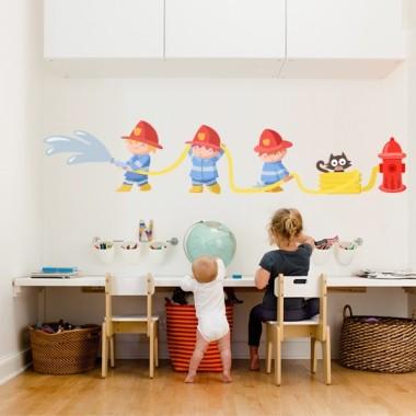 Vinilos para niños Bomberos - Vinilos infantiles