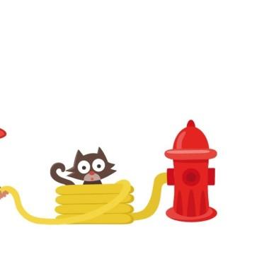 Pompier - Sticker muraux chambre bébé Stickers Garçons Dimensions approximatives (largeur x hauteur) Petit:100x40 cm Moyen:150x50 cm Grans:200x100cm Géant:275x130m vinilos infantiles y bebé Starstick