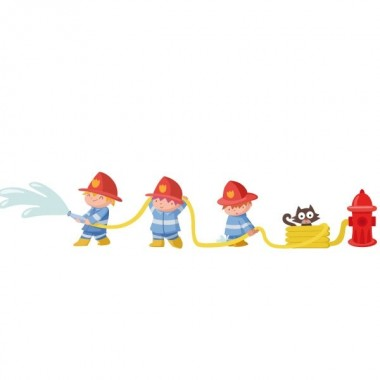 Bomberos - Vinilos infantiles Vinilos infantiles Niño Si a tu hijo le gustan los bomberos, te presentamos un simpático vinilo para decorar de forma divertida la pared de su habitación. Medidas aproximadas del vinilo montado (ancho x alto) Pequeño:125x25cm Mediano:145x28cm Grande:220x44 cm Gigante:300x60 cm   AÑADE UN NOMBRE AL VINILO DESDE 9,99€      vinilos infantiles y bebé Starstick