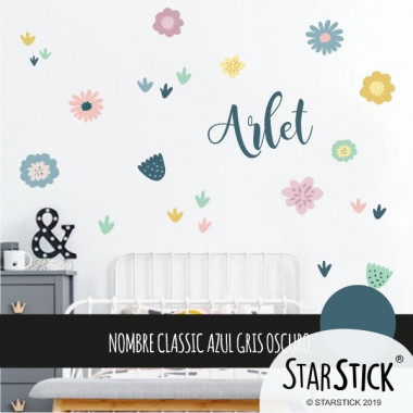 Vinyle décoratif. Fleurs - Stickers muraux décoratifs