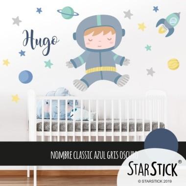 Astronauta baby - Vinilo decorativo para bebés