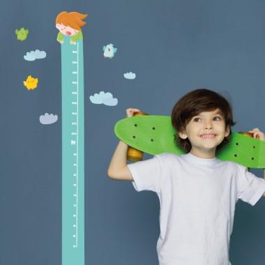Sticker toise - Garçon et fille sur la balançoire