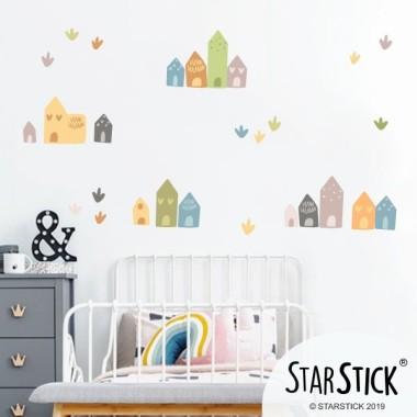Petites maisons - Stickers décoratif