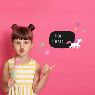 Le tour de la licorne - Affiche de signalisation - Sticker ardoise