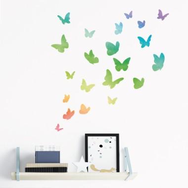 Mariposas de colores Rainbow - Vinilos decorativos