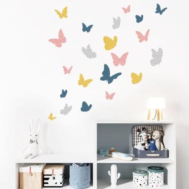 Mariposas de colores - Vintage - Vinilos decorativos