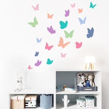 Mariposas de colores - Candy - Vinilos decorativos