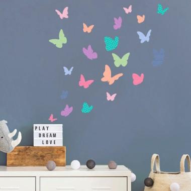 Papillons colorés - Candy - Sticker muraux
