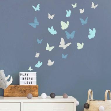 Mariposas de colores - Mint - Vinilos decorativos