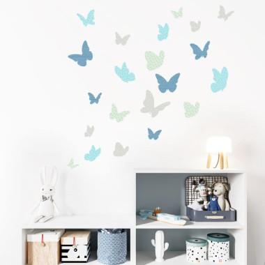 Papillons colorés - Mint - Sticker muraux