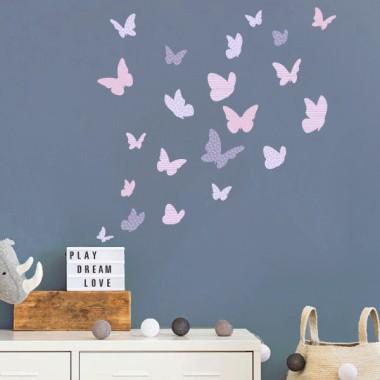 Mariposas de colores - Lavanda - Vinilos decorativos