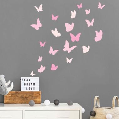 Papallones de colors - Rosa nadó - Vinils decoratius