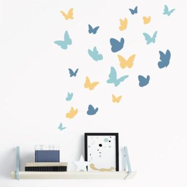 Papillons. 3 couleurs au choix - Sticker muraux